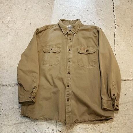 Carhartt BDシャツ XL ビッグサイズ カーハート ブラウン ボタンダウン