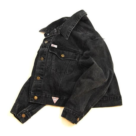 90s 【GUESS】BLACK Denim Jacket