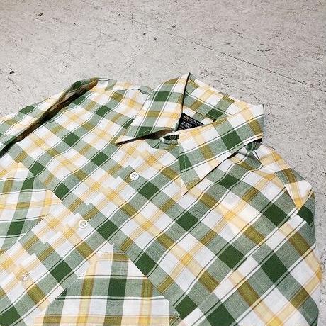 70's J.C. PENNEY 黒タグ L/Sシャツ マドラスチェック  Mサイズ