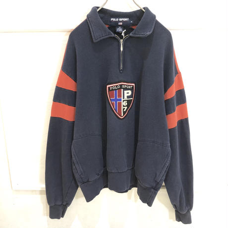 【POLO SPORT】half zip sweat shirt
