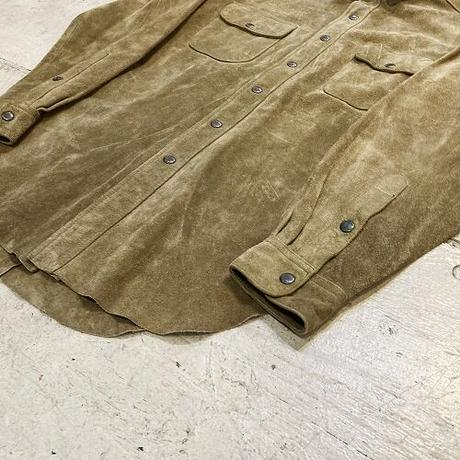 90s POLO by Ralph Lauren Leather Western Shirts  ポロ ラルフローレン ヌバック 長袖シャツ