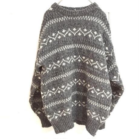 SCOTLAND製 ノルディック ニットセーター