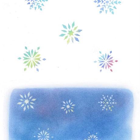 ⑫カット絵【雪の結晶】