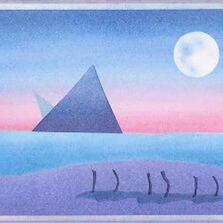 B6【ピラミッドと月】