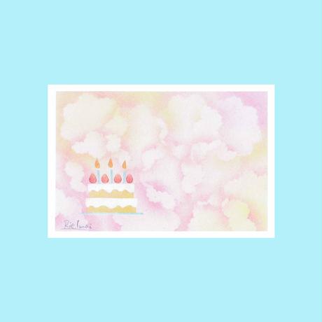 メッセージカード【バースディケーキ】