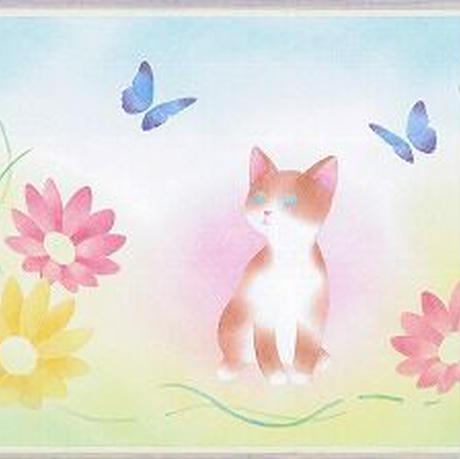 B5【猫と蝶】