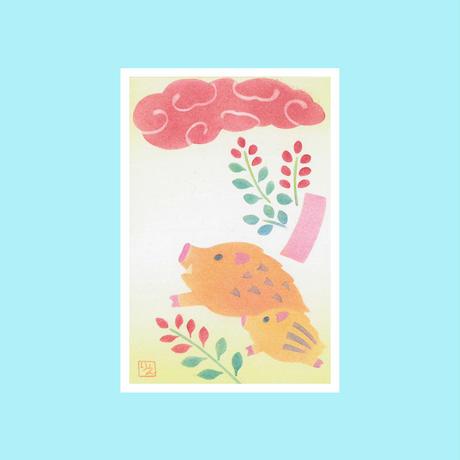メッセージカード【いのしし】