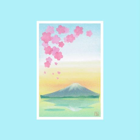 メッセージカード【逆さ富士】