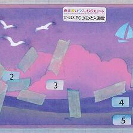 はがきサイズ【カモメと入道雲】