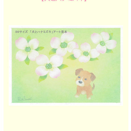 B6【犬とハナミズキ】