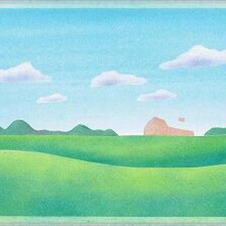 B6【草原と羊】