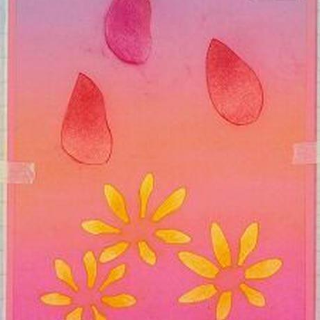 B6【チューリップと花】