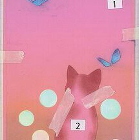 メッセージカード【猫と蝶】