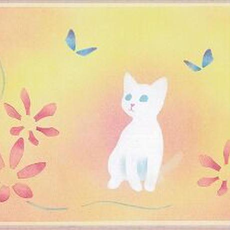 B5【白猫と蝶】