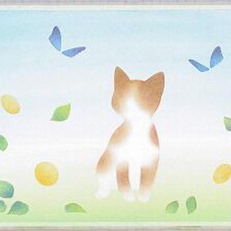B6【猫と蝶】