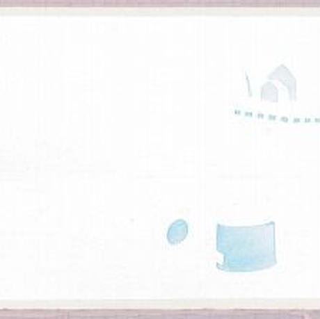 B6【家と花とジョウロ】