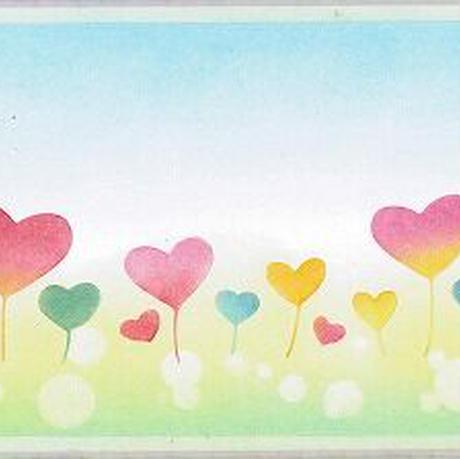 メッセージカード【ハートの花】