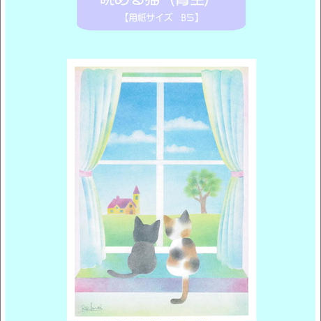 B5【眺める猫】  青空