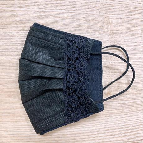 不織布マスク用マスクカバー(ブラックフォーマル)