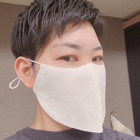 <もっと息がしやすいマスク>女性フリーサイズ (レース)