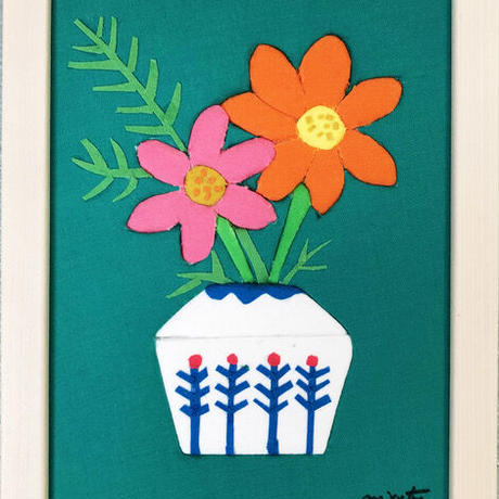 order made✂️ kimekomi flower 秋・コスモス(green)