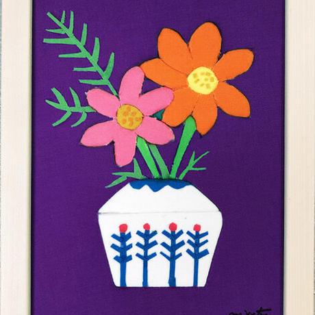 order made✂️ kimekomi flower 秋・コスモス(purple)