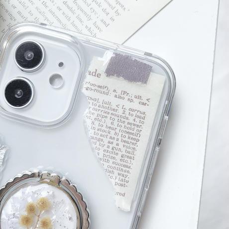 ミモザのリング付きスマホケース  iPhone以外の方はこちら