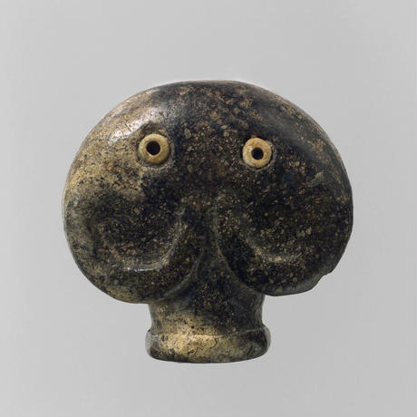 Amulet in the form of a head of an elephant (soft toy)