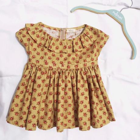 【 melenani 】 Vintage US Cotton Volum Short Dress