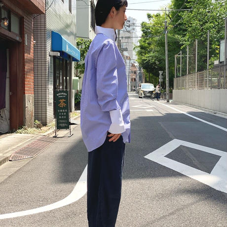 【 daichïogata 】タキシードシャツ(ストライプ×ホワイト)