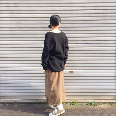 【 inner mind chronology 】WERNERS Wool Henry neck Sweater
