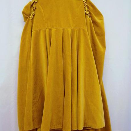 【 medetasy 】velveteen long skirt