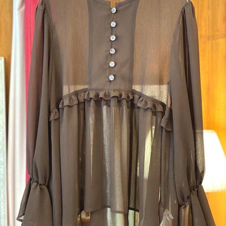 【 Ruimeme 】 yoryu gather blouse
