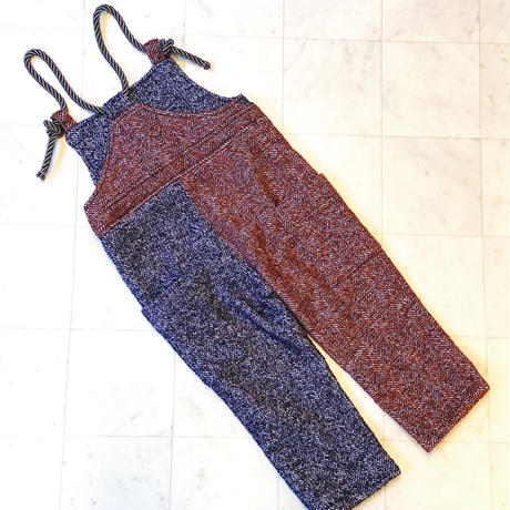 【 melenani 】MIX TWEED Overalls