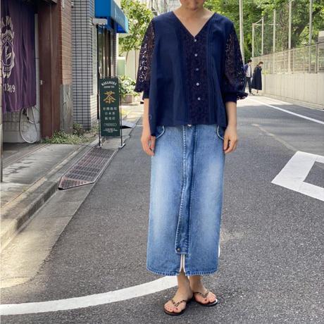 【 daichïogata 】デニムモッズスカート(ウォッシュ加工)
