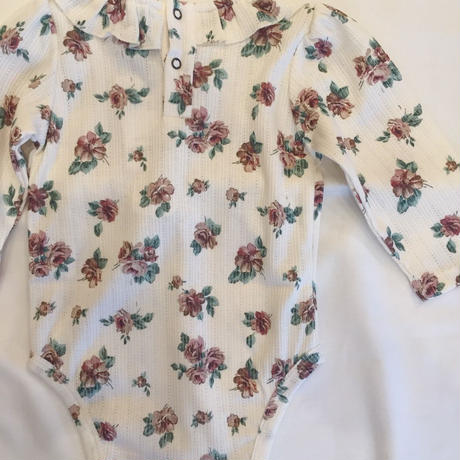 【 tocoto 】Flower print ribbed baby