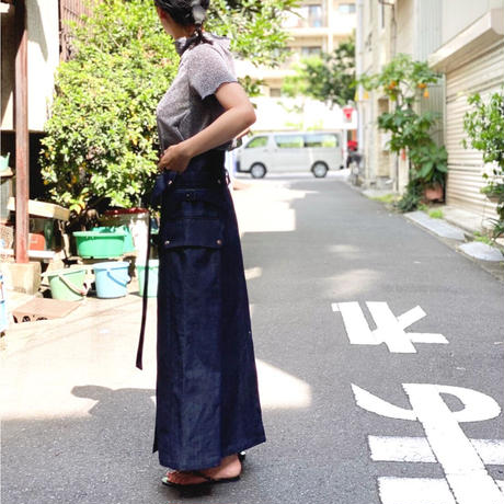 【 daichïogata 】DENIM motorcycle skirt