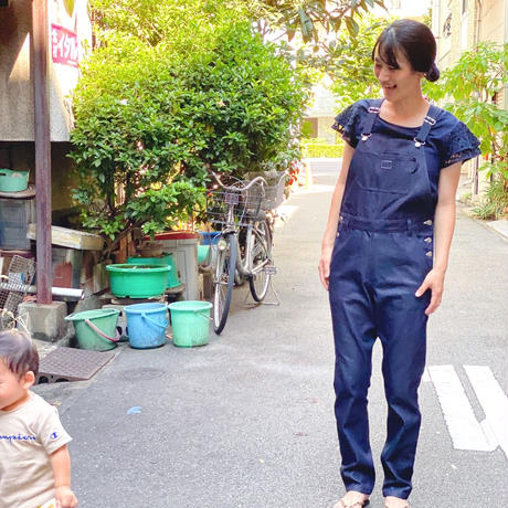 【 MARU TO 】Overall Straight -denim-