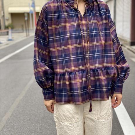 【 Ruimeme 】palma check blouse