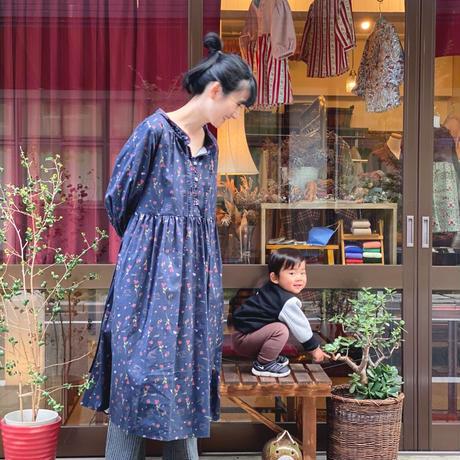 【 Ruimeme 】〈Night flowers〉cotton gather dress