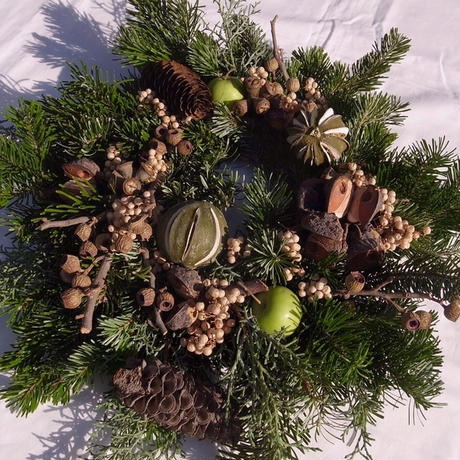 【花園-kaen°-】wreath -Lime & Green-