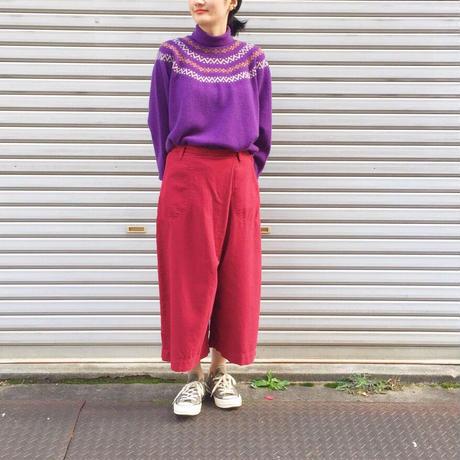 【 OMNIGOD 】ノルディックハイネックセーター
