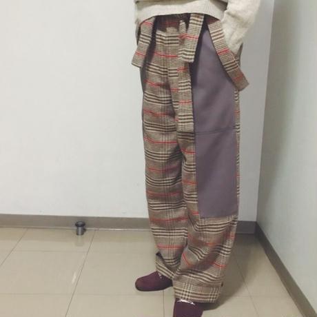【 MARU TO 】Check work pant