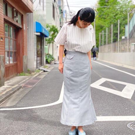 【 daichïogata 】5Pマーメイドスカート(ライトグレー)
