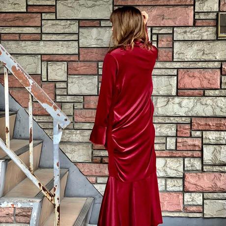 【 HOUGA 】velour long dress