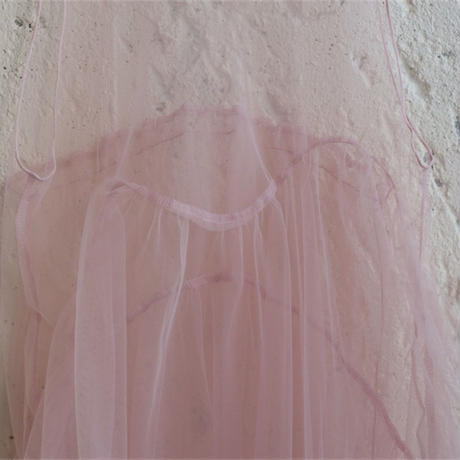 【 UNIONINI 】tulle apron long dress