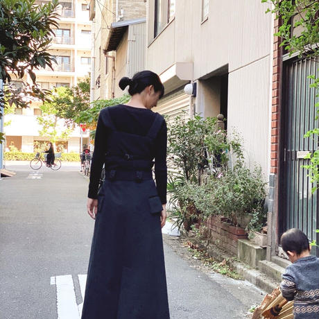【 daichïogata 】ウエストコートビスチェ -濃灰-