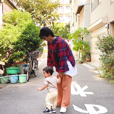 【 Yuumi ARIA 】BACK OVER T-SHRITS -Red-