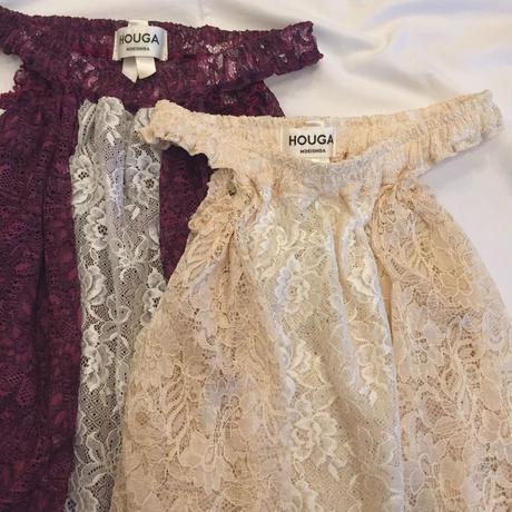 【 HOUGA 】lace budding skirt