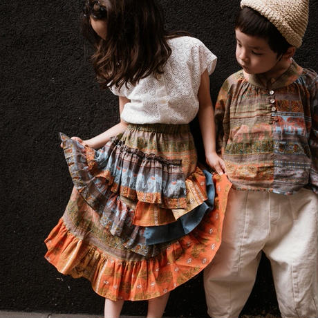 【 melenani 】Indian cotton Asymmetry Skirt